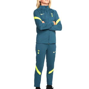 Chándal Nike Tottenham niño Dri-Fit Strike - Chándal infantil Nike del Tottenham HFC - verde oscuro