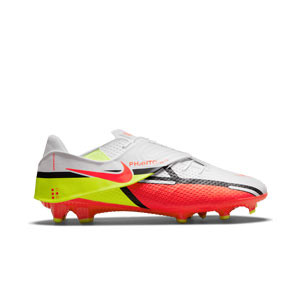 Nike Phantom GT2 Academy Flyease FG/MG - Botas de fútbol Nike FG/MG para césped artificial - blancas, rojas