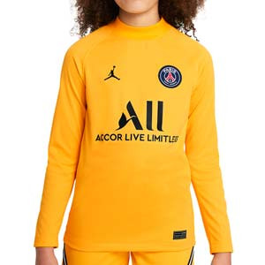 Camiseta Nike PSG portero 2021 2022 niño Dri-Fit Stadium - Camiseta de manga larga infantil de portero Nike del París Saint-Germain 2021 2022 - amarilla
