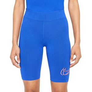 Mallas Nike mujer Essential Print - Mallas tipo ciclista de mujer Nike - azules - frontal