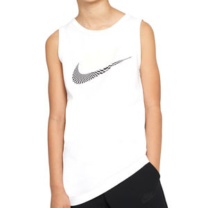 Camiseta tirantes Nike Sportswear Festival Futura - Camiseta sin mangas de algodón Nike - blanca - frontal