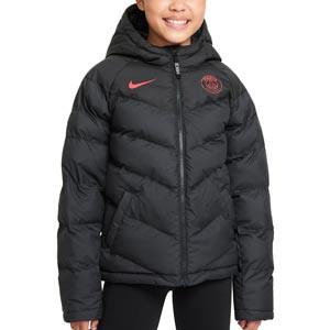Chaqueta Nike PSG niño Synthetic-Fill - Chaqueta impermeable Nike del Paris Saint-Germain - negra