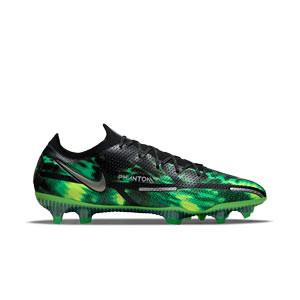 Nike Phantom GT2 Elite SW FG - Botas de fútbol Nike FG para césped natural o artificial de última generación - verdes, negras