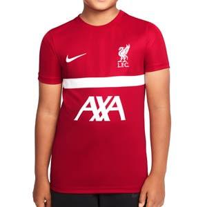 Camiseta Nike Liverpool entrenamiento niño Academy Pro - Camiseta de entrenamiento infantil Nike del Liverpool - rojo