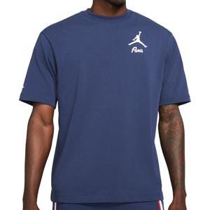Camiseta Nike PSG x Jordan Statement - Camiseta de algodón Nike x Jordan del París Saint-Germain - azul marino