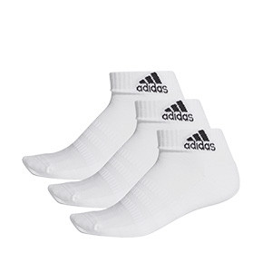 Pack calcetines tobilleros adidas Cushioned 3pp - Pack 3 calcetines tobilleros adidas - blancos - frontal