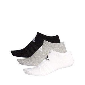 Calcetines invisibles adidas 3 pares finos - Pack 3 calcetines invisibles adidas - varios colores