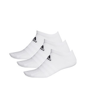 Pack calcetines invisibles adidas Light 3pp - Pack 3 calcetines invisibles adidas - blancos - frontal