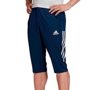 Pantalón pirata adidas Condivo 20 - Pantalón pirata de entrenamiento de fútbol adidas - azul marino - frontal