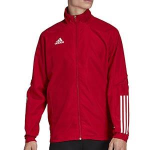 Chaqueta adidas Condivo 20 Presentación - Chaqueta de chándal para fútbol adidas - roja - frontal