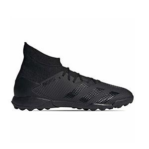 adidas Predator 20.3 TF - Zapatillas de fútbol multitaco con tobillera adidas suela turf - negras - pie derecho