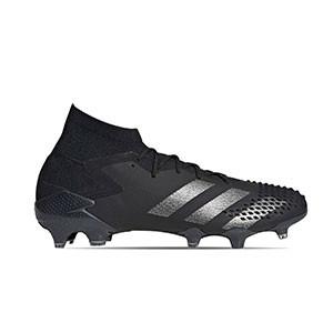 adidas Predator 20.1 FG - Botas de fútbol con tobillera adidas FG para césped natural o artificial de última generación - negras - pie derecho