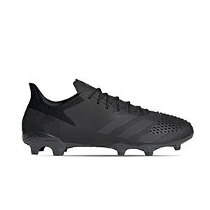 adidas Predator 20.2 FG - Botas de fútbol con tobillera adidas FG para césped natural o artificial de última generación - negras - pie derecho