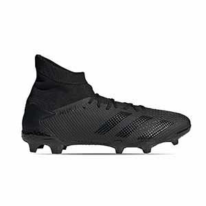 adidas Predator 20.3 FG - Botas de fútbol con tobillera adidas FG para césped natural o artificial de última generación - negras - pie derecho