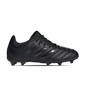 adidas Copa 20.3 FG Junior - Botas de fútbol de piel para niño adidas FG para césped natural o artificial de última generación - negras - miniatura
