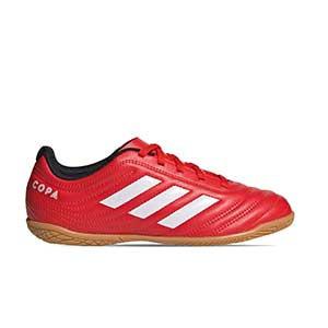 adidas Copa 20.4 IN J - Zapatillas de fútbol sala para niño adidas suela lisa IN - rojas y negras - pie derecho
