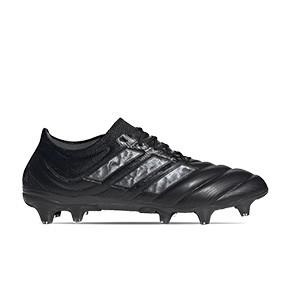 adidas Copa 20.1 FG - Botas de piel de canguro adidas suela FG para césped natural o artificial de última generación - negras - miniatura