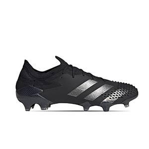 adidas Predator 20.1 Low FG - Botas de fútbol adidas FG para césped natural o artificial de última generación - negras - pie derecho