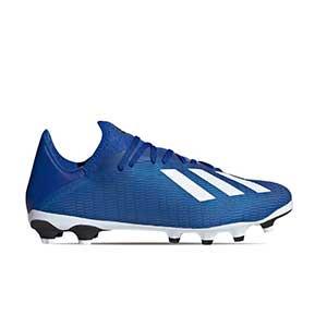 adidas X 19.3 MG - Botas de fútbol adidas MG para césped natural o artificial - azules - pie derecho