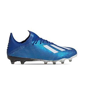 adidas X 19.1 AG - Botas de fútbol adidas AG para césped artificial - azules - pie derecho