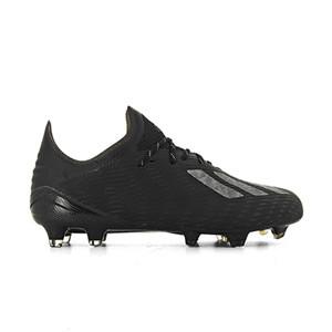 adidas X 19.1 FG - Botas de fútbol adidas FG para césped natural o artificial de última generación - negras - derecho