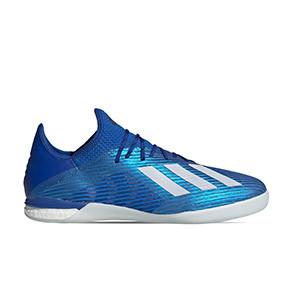 adidas X 19.1 IN - Zapatillas de fútbol sala adidas suela lisa IN - azules - pie derecho