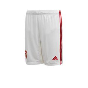 Short adidas Arsenal niño 2019 2020 - Pantalón corto infantil adidas primera equipación Arsenal 2019 2020 - blanco - frontal