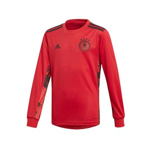 Camiseta adidas Alemania portero niño 19 2020 - Camiseta infantil de manga larga de portero selección alemana 2019 2020 - roja - frontal