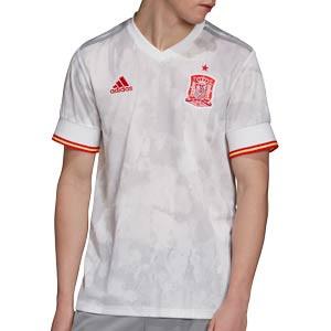 Camiseta adidas 2a España 2021 - Camiseta segunda equipación adidas selección española 2021 - blanca grisácea - frontal