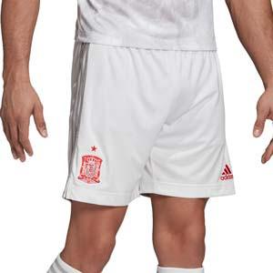 Short adidas 2a España 2020 2021 - Pantalón corto segunda equipación adidas selección española 2020 2021 - blanco - miniatura