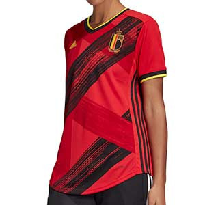 Camiseta adidas Bélgica mujer 2019 2020 - Camiseta de mujer primera equipación selección belga 2019 2020 - roja - frontal