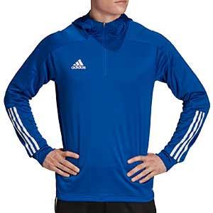 Sudadera con capucha adidas Condivo 20 - Sudadera con capucha de entrenamiento de fútbol adidas - azul - frontal