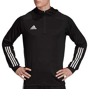 Sudadera con capucha adidas Condivo 20 - Sudadera con capucha de entrenamiento de fútbol adidas - negra - frontal
