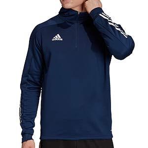 Sudadera con capucha adidas Condivo 20 - Sudadera con capucha de entrenamiento de fútbol adidas - azul marino - frontal