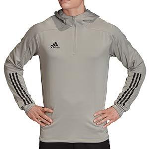 Sudadera con capucha adidas Condivo 20 - Sudadera con capucha de entrenamiento de fútbol adidas - gris - frontal