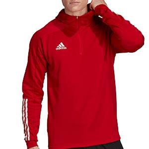 Sudadera con capucha adidas Condivo 20 - Sudadera con capucha de entrenamiento de fútbol adidas - roja - frontal