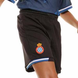 Short Kelme Espanyol niño 2021 2022 - Pantalón corto infantil primera equipación Kelme del RCD Espanyol 2021 2022 - negro