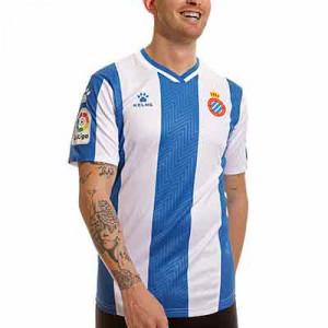 Camiseta Kelme Espanyol 2021 2022 - Camiseta primera equipación Kelme del RCD Espanyol 2021 2022 - azul, blanca