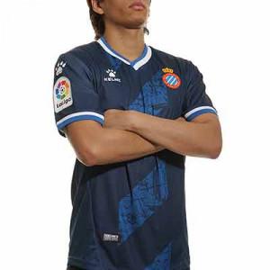 Camiseta Kelme 3a Espanyol 2021 2022 - Camiseta tercera equipación Kelme del RCD Espanyol 2021 2022 - azul marino