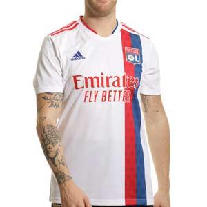 Camiseta adidas Olympique Lyon 2021 2022 - Camiseta primera equipación adidas del Olympique de Lyon 2021 2022 - blanca