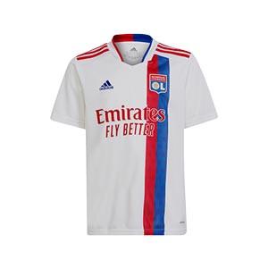 Camiseta adidas niño Olympique Lyon 2021 2022 - Camiseta primera equipación infantil adidas Olympique Lyon 2021 2022 - blanca