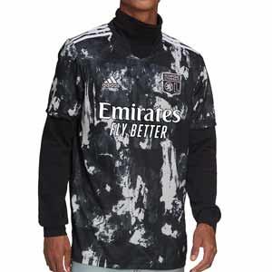 Camiseta adidas 3a Olympique Lyon 2021 2022 - Camiseta tercera equipación adidas del Olympique de Lyon 2021 2022 - negra