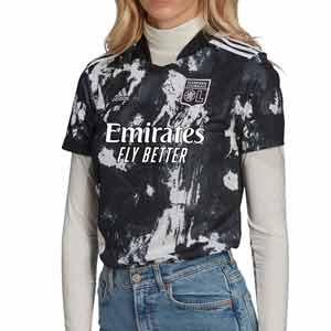 Camiseta adidas 3a mujer Olympique Lyon 2021 2022 - Camiseta tercera equipación para mujer adidas del Olympique de Lyon 2021 2022 - negra