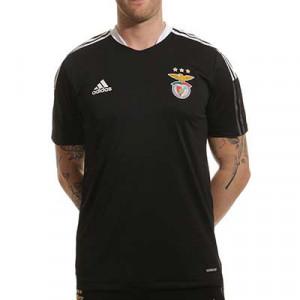 Camiseta adidas Benfica entrenamiento - Camiseta de entrenamiento para entrenadores adidas del Benfica - negra