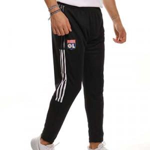 Pantalón adidas Olympique Lyon entrenamiento - Pantalón largo de entrenamiento adidas del Olympique de Lyon - negro