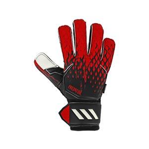 adidas Predator Match FingerSave - Guantes de portero con protecciones adidas corte positivo - negros - derecho