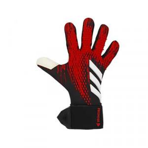 adidas Predator Competition - Guantes de portero adidas corte negativo - rojos y negros - frontal derecho