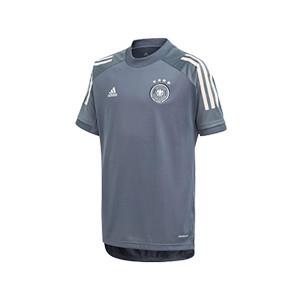 Camiseta adidas Alemania niño entreno 19 2020 - Camiseta infantil de manga corta de entrenamiento selección alemana 2019 2020 - gris - frontal