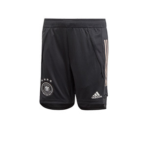 Short adidas Alemania niño entreno 19 2020 - Pantalón corto infantil de entrenamiento selección alemana 2019 2020 - gris - frontal