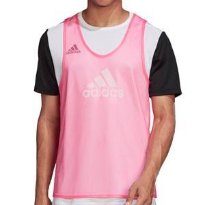 Peto adidas Training Bib 14 - Peto de entrenamiento de fútbol adidas - rosa - frontal